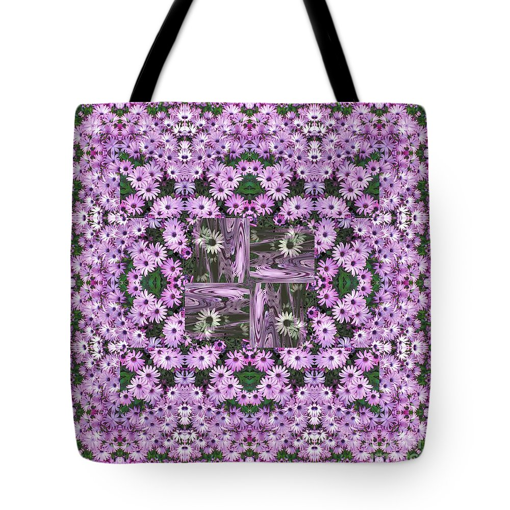 Kaleidoscope Tote Bag featuring the photograph Cape Daisies by Elaine Teague