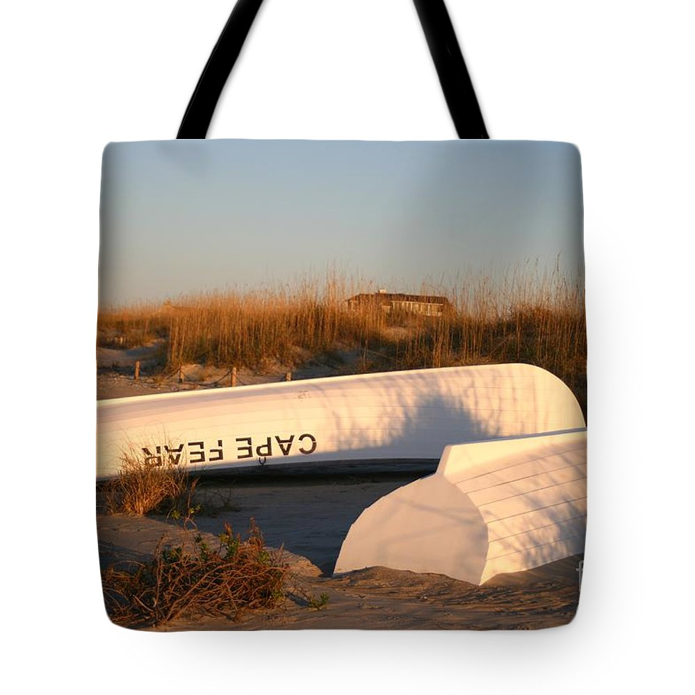 Boats Tote Bag featuring the photograph Cape Fear Boats by Nadine Rippelmeyer