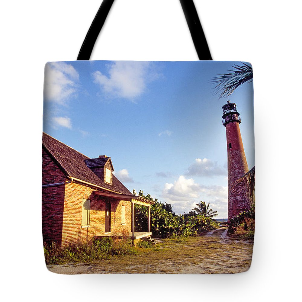 Historic Tote Bag featuring the photograph Cape Florida 2 by Buddy Mays