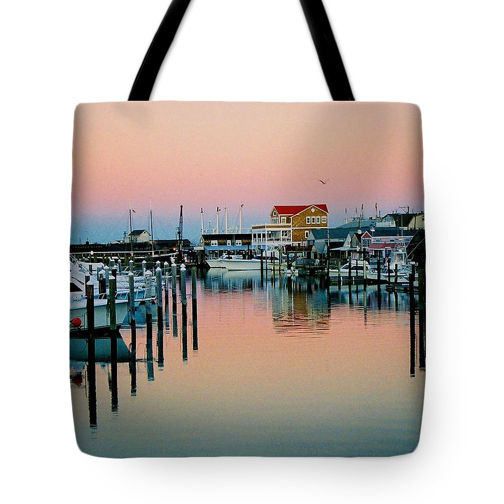 Cape May Tote Bag featuring the photograph Cape May After Glow by Steve Karol