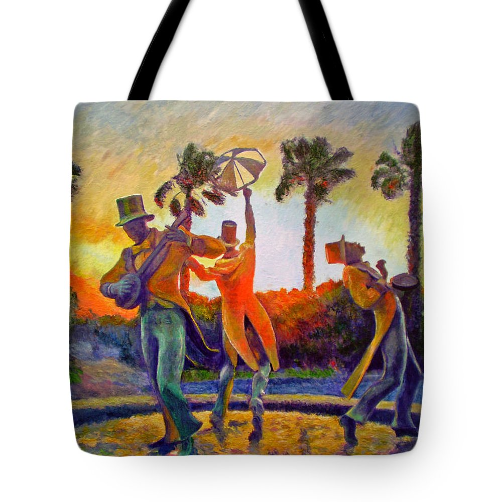 Sunset Tote Bag featuring the painting Cape Minstrels by Michael Durst