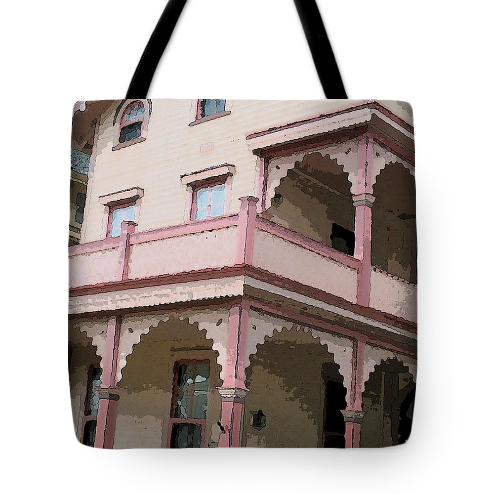 Cape May Tote Bag featuring the digital art Cape Scape 1 by Fritz - Steven Weiss
