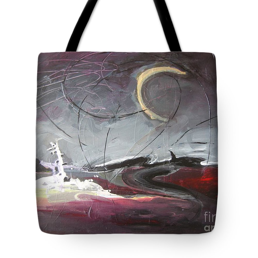 Abstract Paintings Tote Bag featuring the painting Cape St. Mary by Seon-Jeong Kim