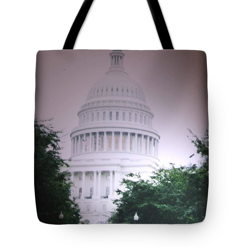 Capitol Tote Bag featuring the photograph Capitol In Pink by Pharris Art