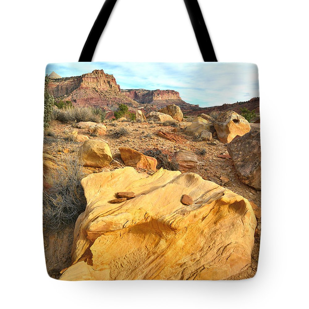 Capitol Reef National Park Tote Bag featuring the photograph Capitol Reef Evening by Ray Mathis
