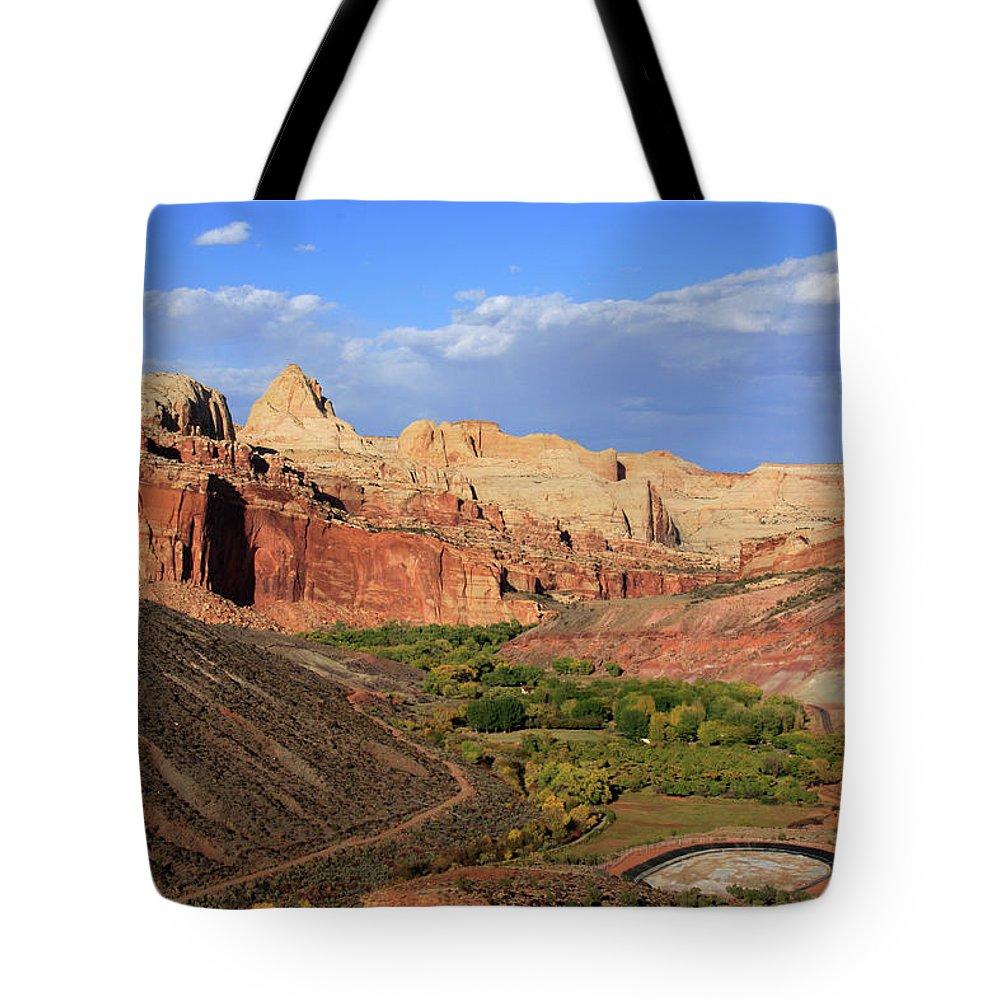 Utah Tote Bag featuring the photograph Capitol Reef State Park, Utah by Aidan Moran