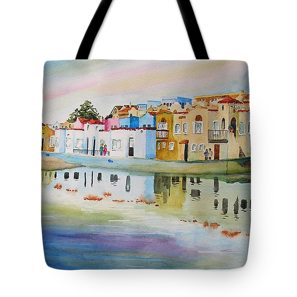 Capitola Tote Bag featuring the painting Capitola by Karen Stark