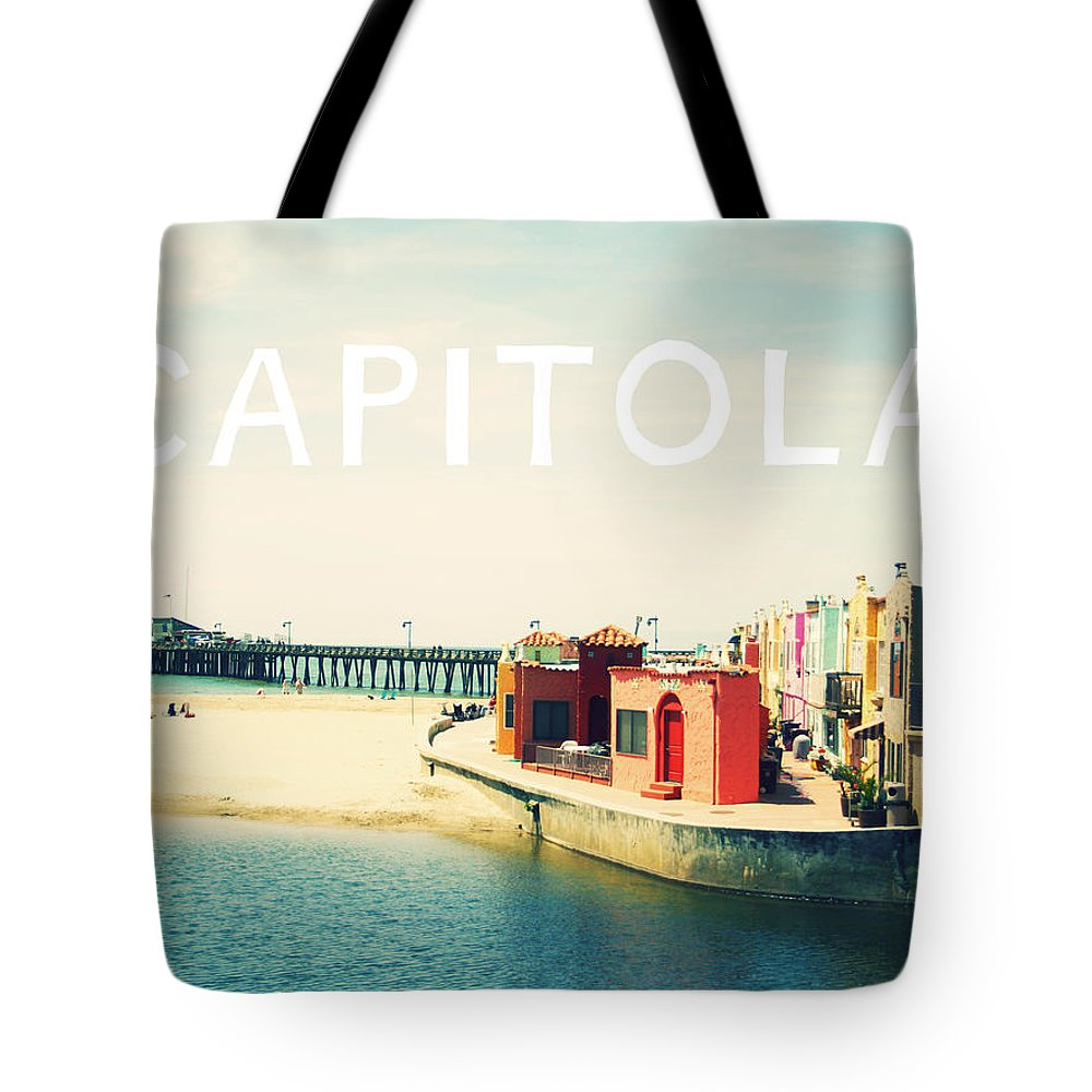 Capitola Tote Bag featuring the photograph Capitola by Linda Woods