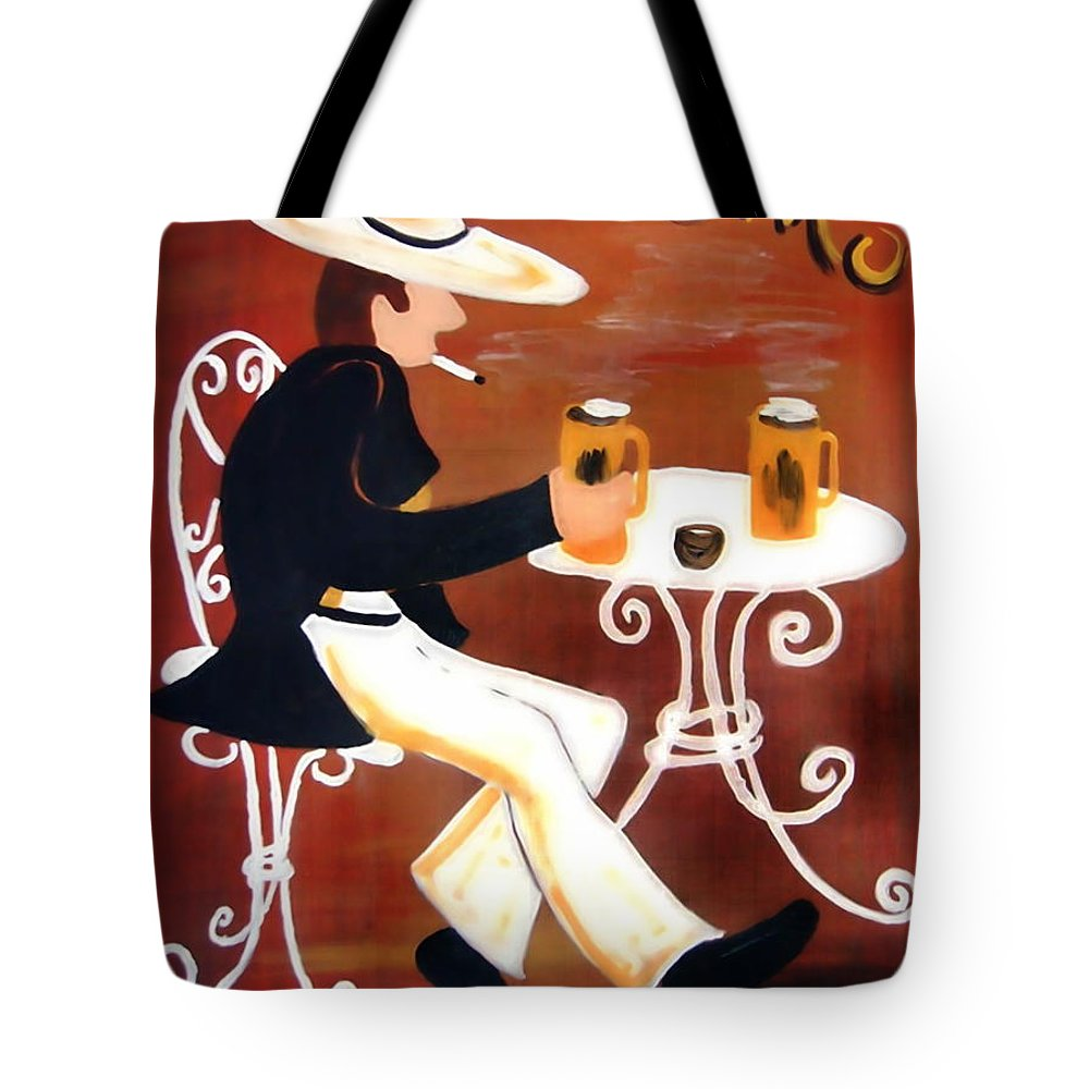 Cappuccino Tote Bag featuring the painting Cappuccino by Helmut Rottler
