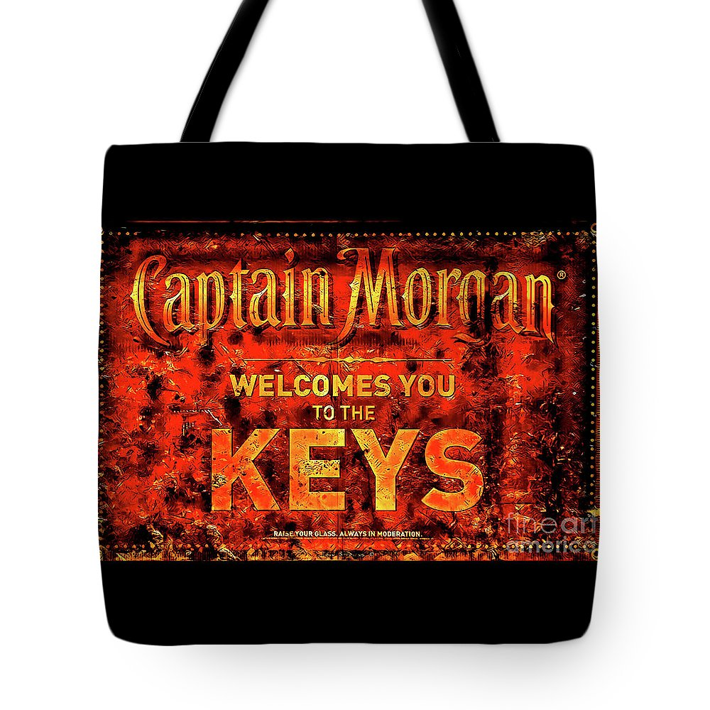Captain Morgan Tote Bag featuring the photograph Captain Morgan The Florida Keys by John Stephens