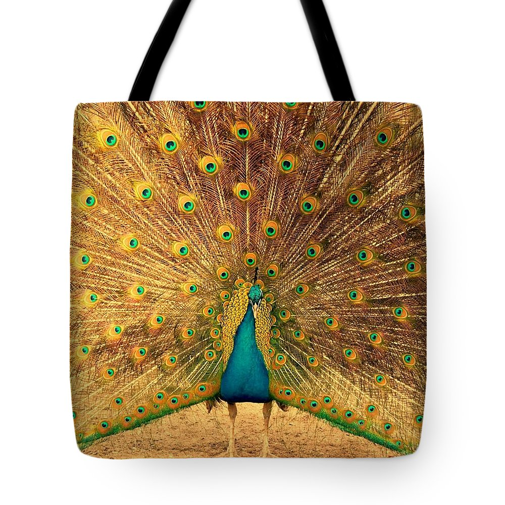 Peacock Tote Bag featuring the photograph Captain Peacock by Studio Yuki