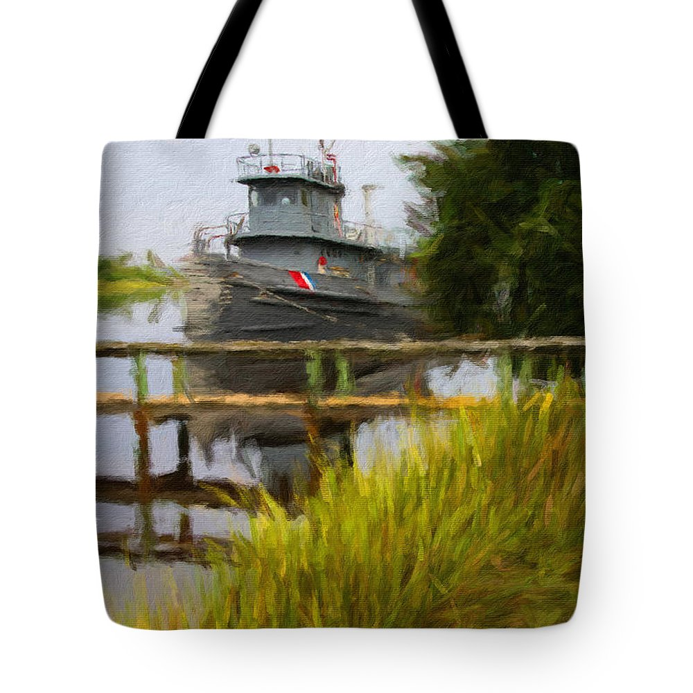 Boat Tote Bag featuring the photograph Captains Boat by Alice Gipson