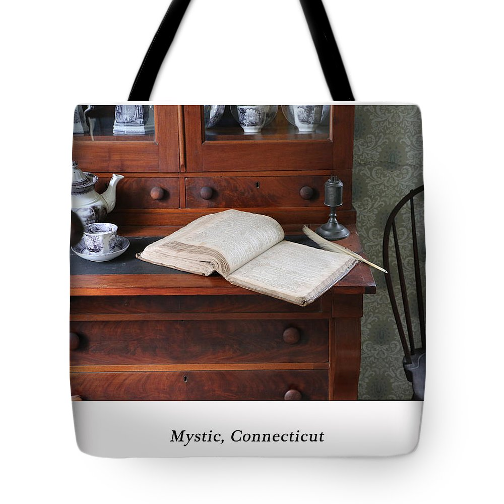 Log Tote Bag featuring the photograph Captain's Log by Lovin America