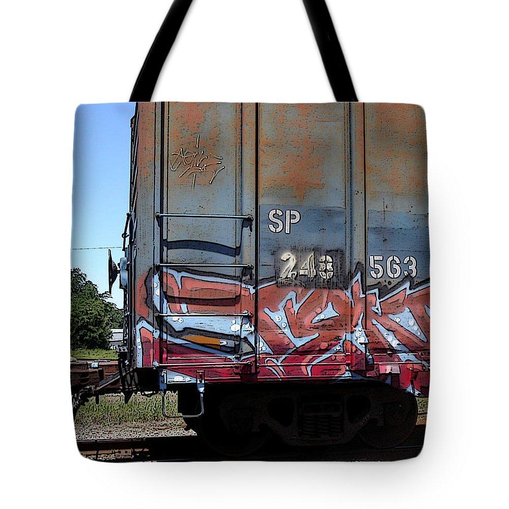 Train Tote Bag featuring the photograph Car 243 by Anne Cameron Cutri