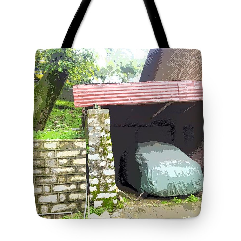 Car Garage Tote Bag featuring the photograph Car Garage by Sweety Vyas