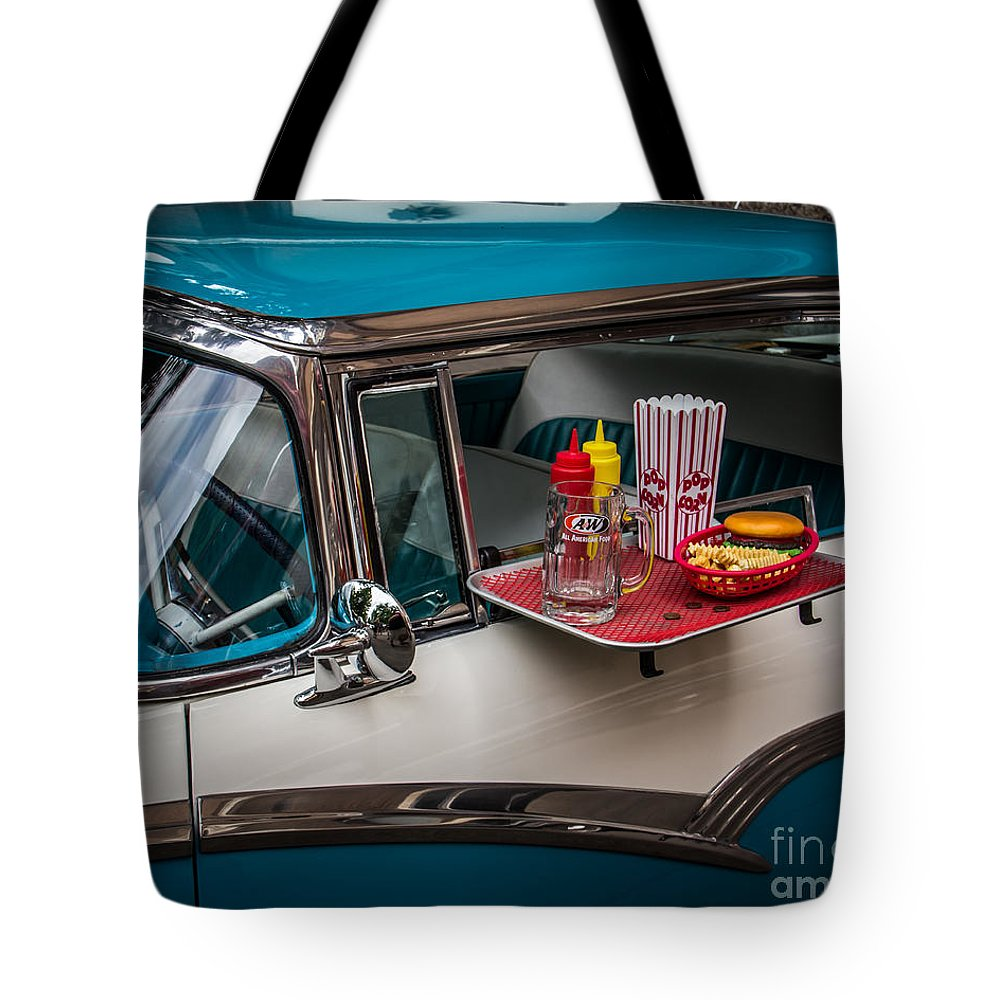 Car Tote Bag featuring the photograph Car Hop by Perry Webster