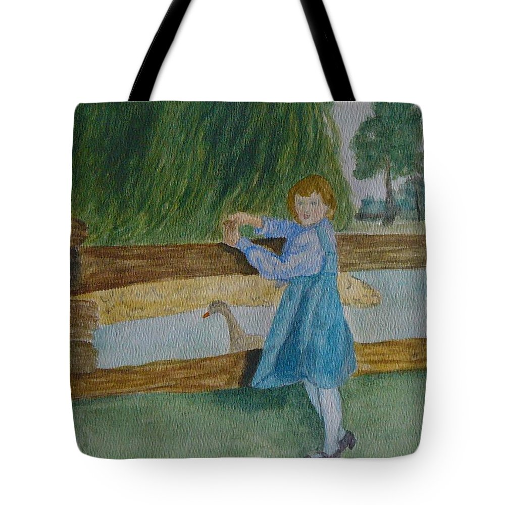 Tote Bag featuring the painting Cara by Peggy King