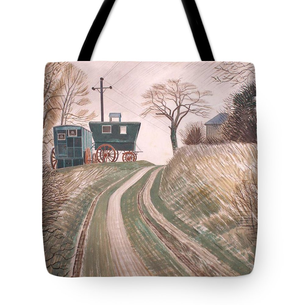 Painting Tote Bag featuring the painting Caravan by Mountain Dreams