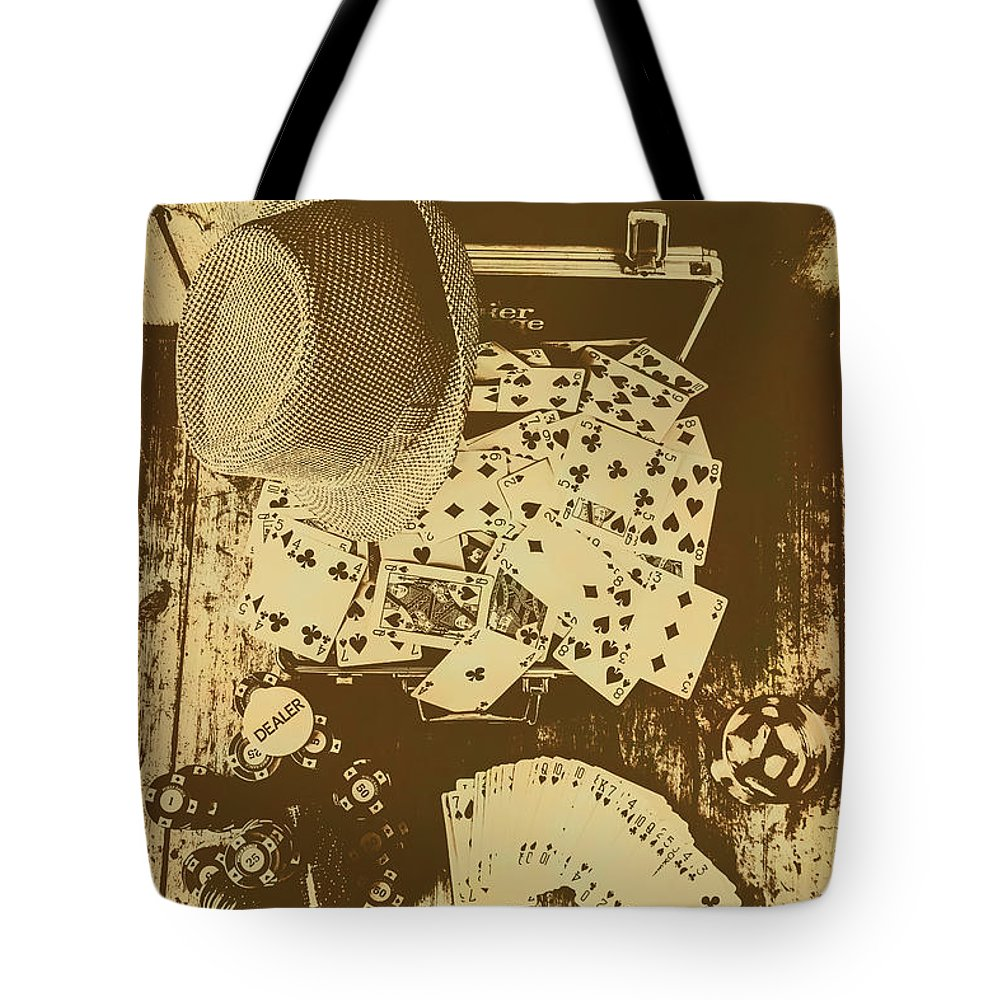 Vintage Tote Bag featuring the photograph Card Games And Vintage Bets by Jorgo Photography - Wall Art Gallery
