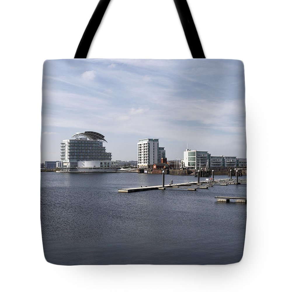 Cardiff Tote Bag featuring the photograph Cardiff Bay 3 by Kevin Round