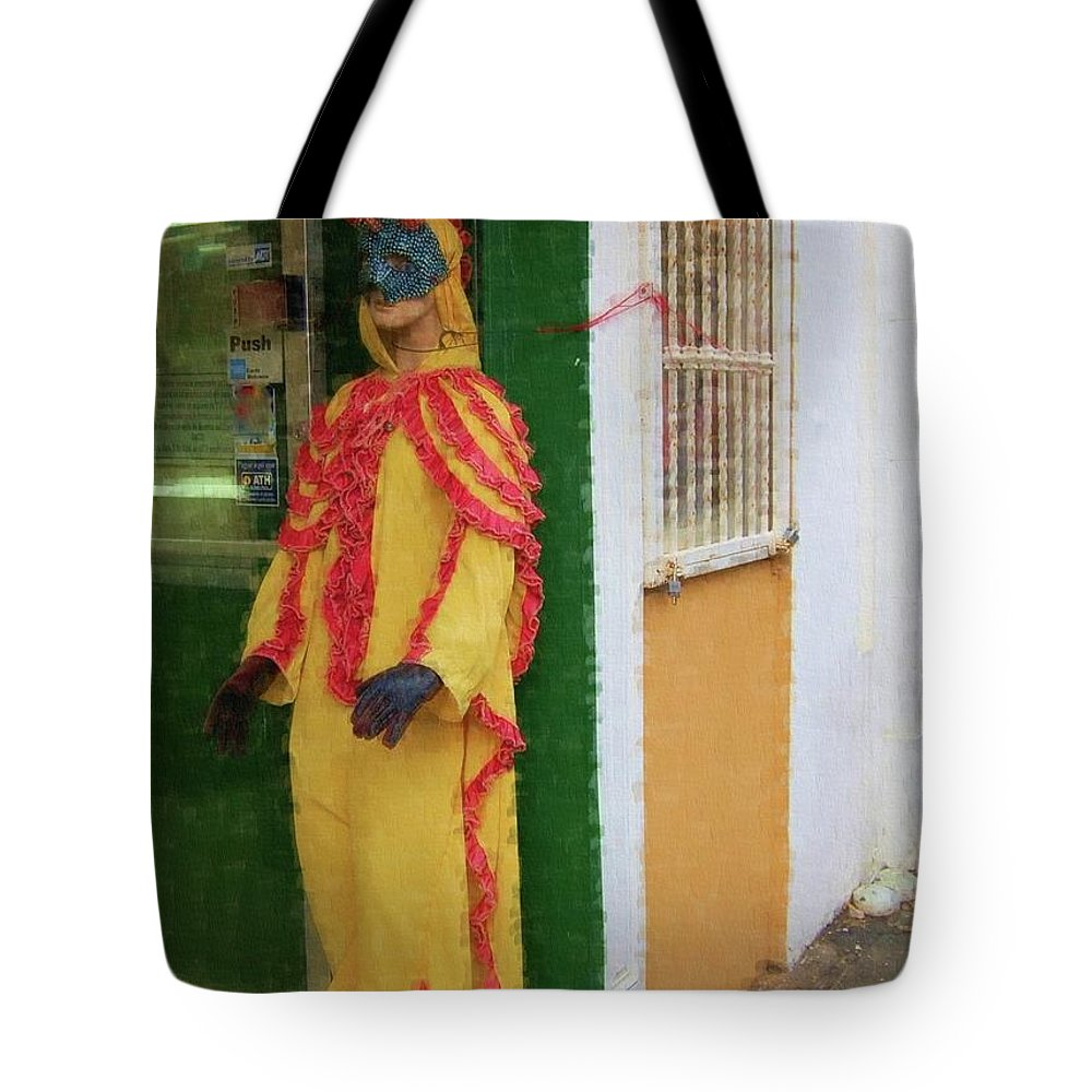 Mask Tote Bag featuring the photograph Careta Hombre by Debbi Granruth
