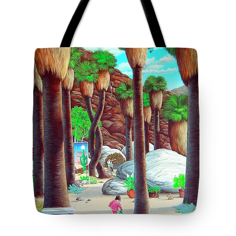 Canyon Tote Bag featuring the painting Caretaker by Snake Jagger