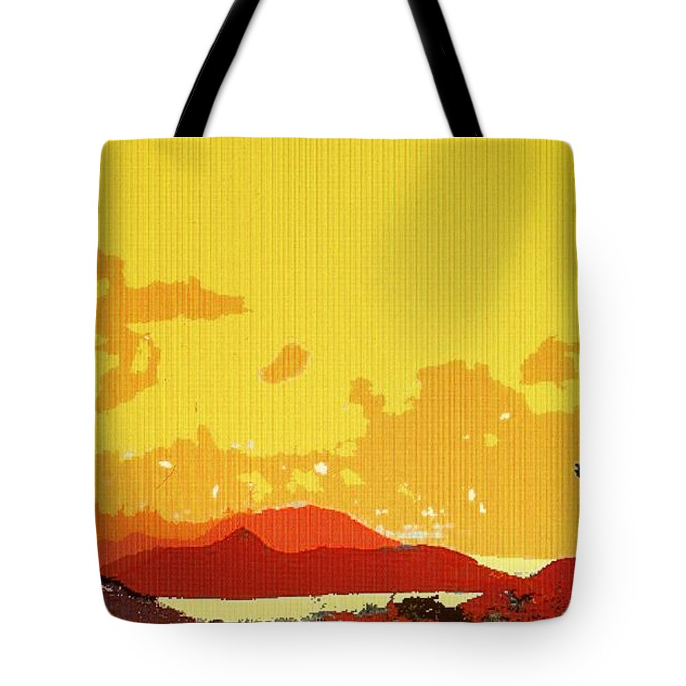 Caribbean Tote Bag featuring the photograph Caribbean Sky by Ian MacDonald