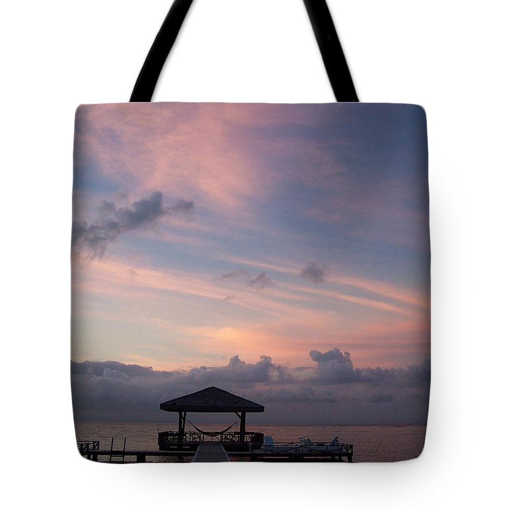 Ocean Tote Bag featuring the photograph Caribbean Sunrise by Gale Cochran-Smith