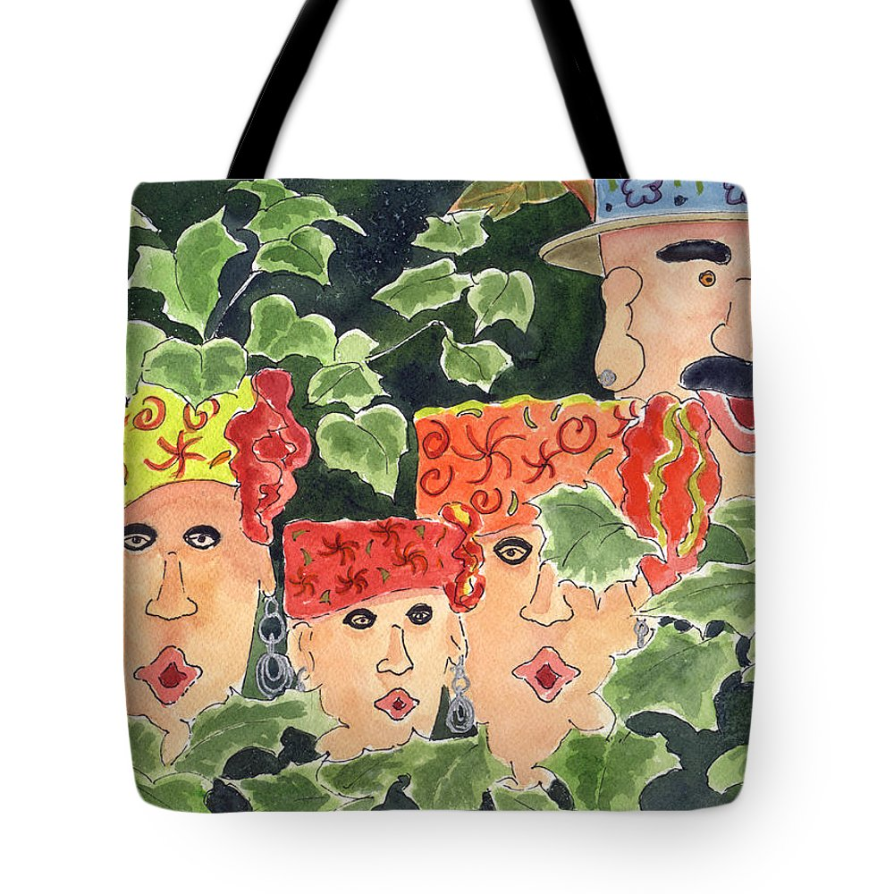 Flower Tote Bag featuring the painting Caribbean Whimsey by Marsha Elliott