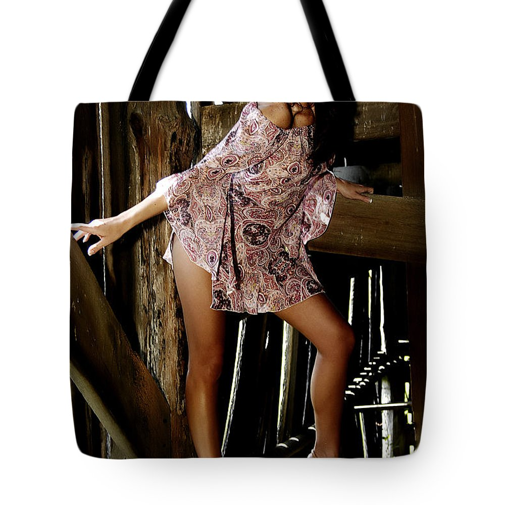 Clay Tote Bag featuring the photograph Carla's In The Barn Again by Clayton Bruster