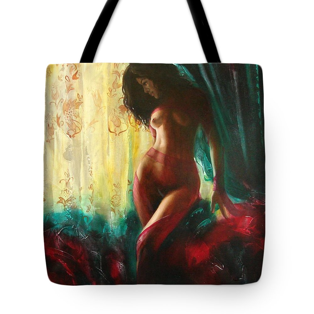 Art Tote Bag featuring the painting Carmen by Sergey Ignatenko