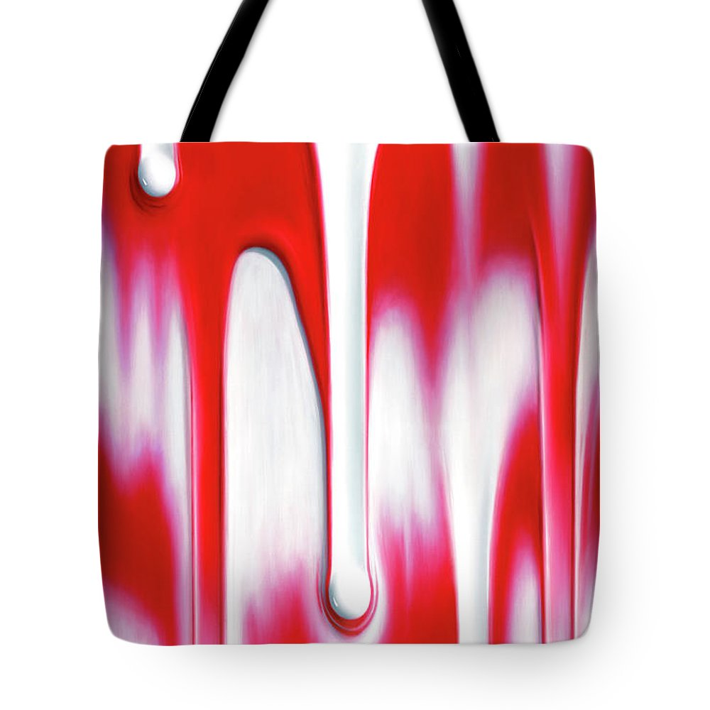 Carmine Tote Bag featuring the painting Carmine by Brian McCarthy