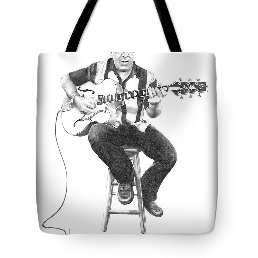Drawing Tote Bag featuring the drawing Carmine D'amico by Murphy Elliott