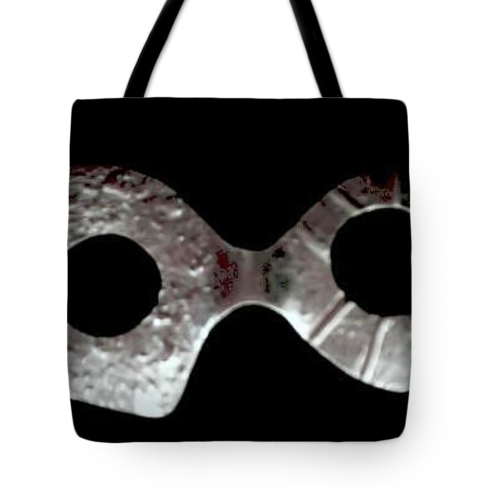 Carnival Type Face Mask For Wearing In .999 Fine Silver Tote Bag featuring the photograph Carnival 002 by Robert aka Bobby Ray Howle