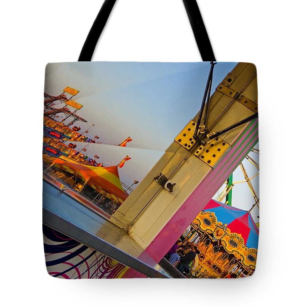 Carnival Tote Bag featuring the photograph Carnival 1 by Skip Hunt