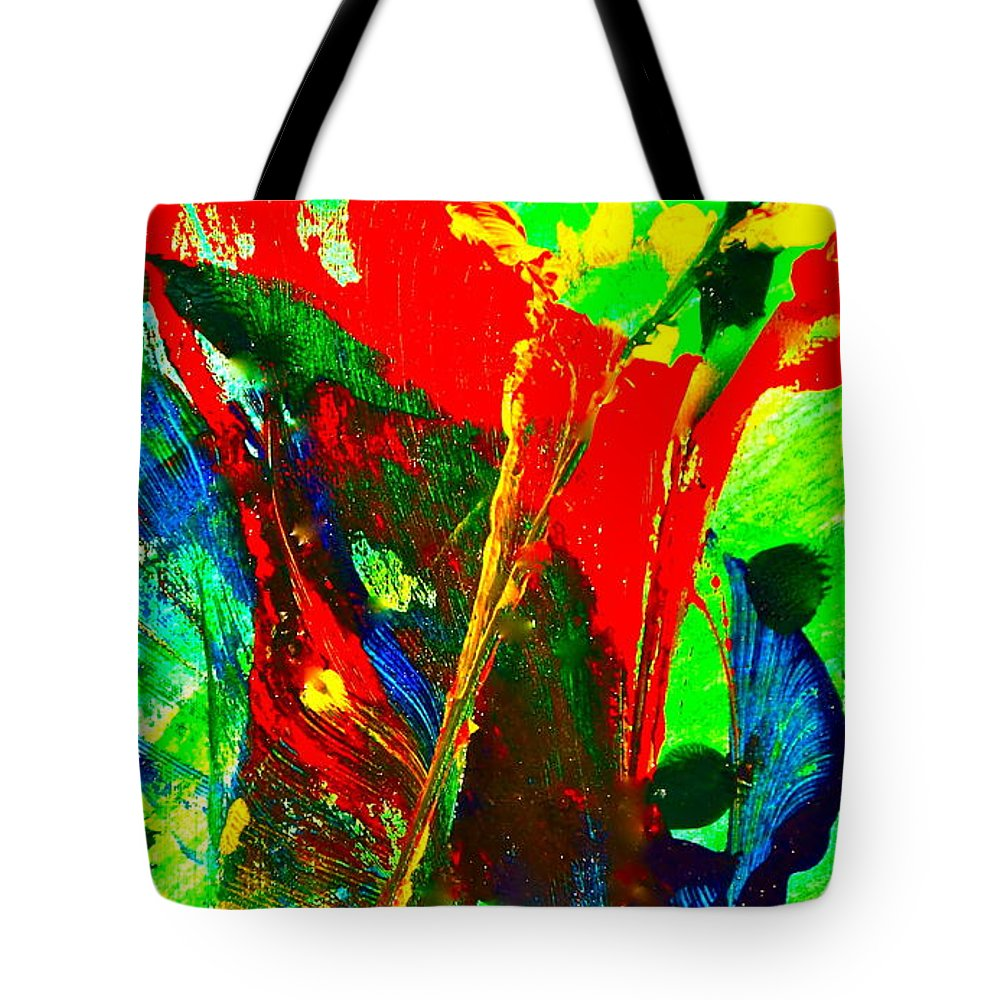 Abstract Tote Bag featuring the painting Carnival by Dickie Mohess