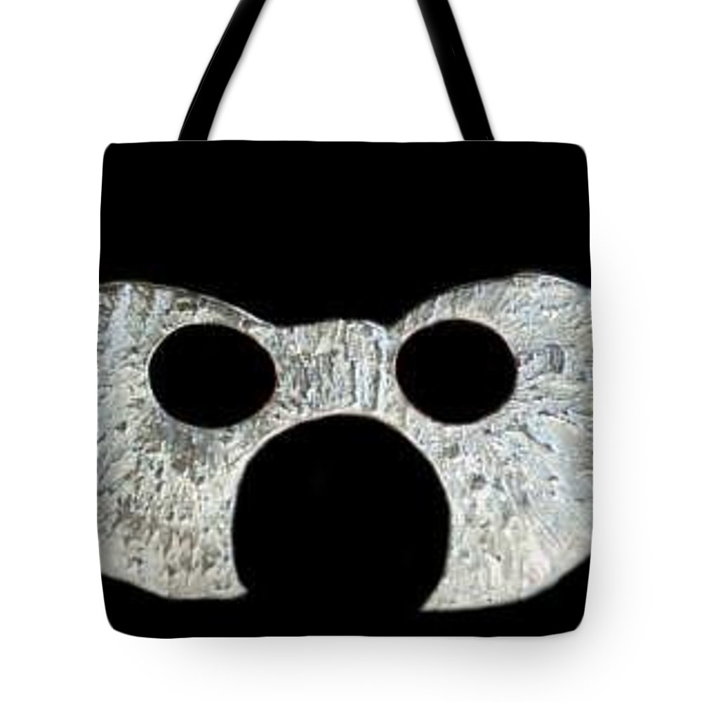 A Wearable Mardi Gras Carnival Or Costume Mask With A Leather Covered Holding Stick Tote Bag featuring the photograph Carnival Series by Robert aka Bobby Ray Howle