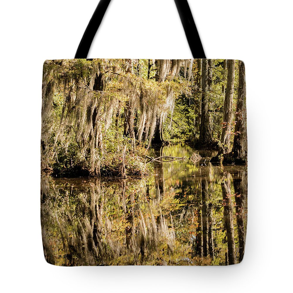 Swan Lake Tote Bag featuring the photograph Carolina Swamp by DiFigiano Photography