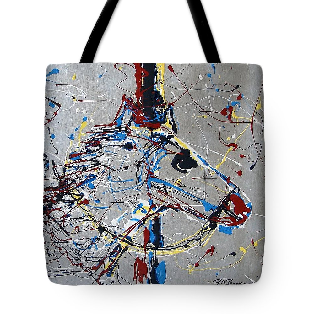 Carousel Horse Tote Bag featuring the mixed media Carousel Horse by J R Seymour