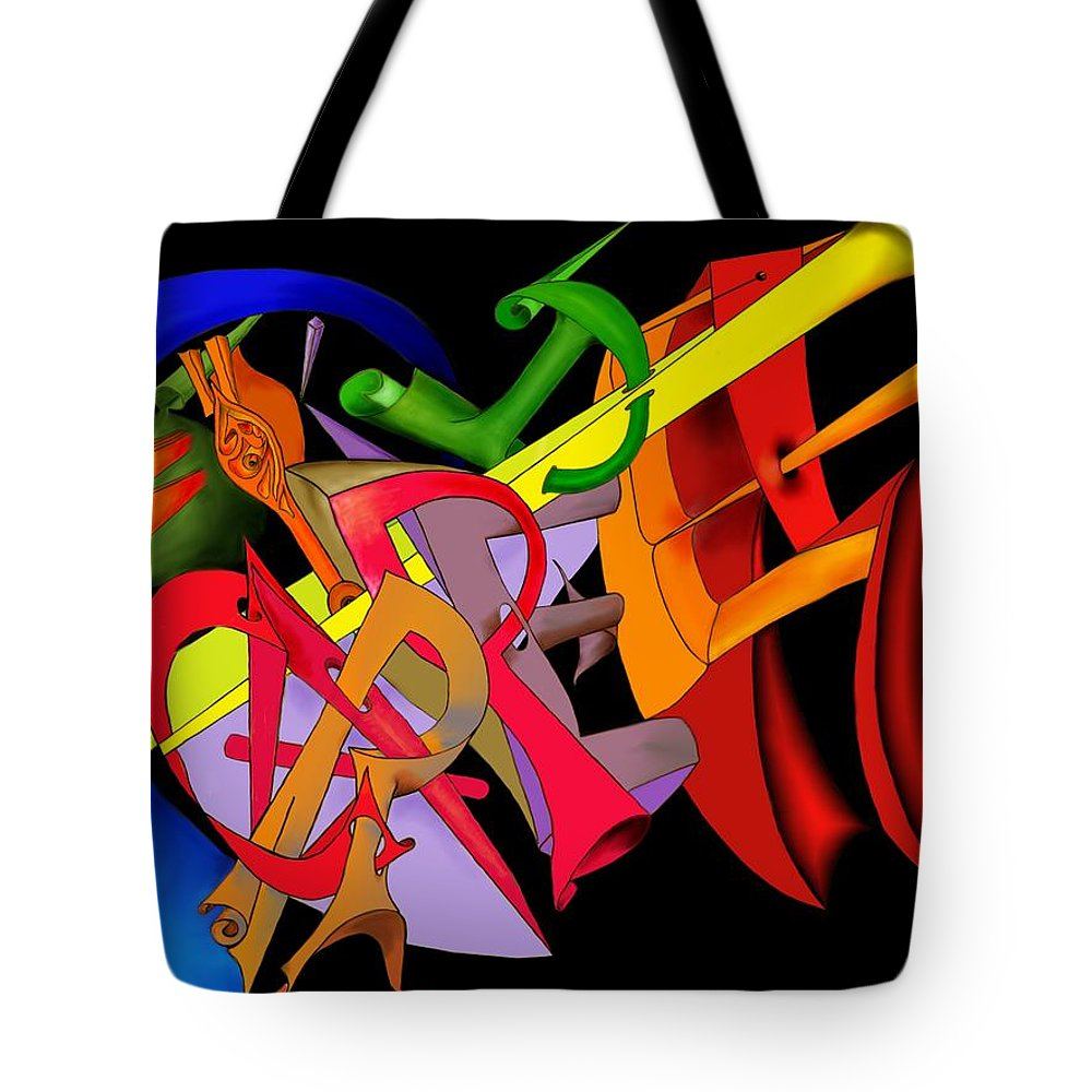 'carpe Diem' Tote Bag featuring the digital art Carpe Diem II by Helmut Rottler