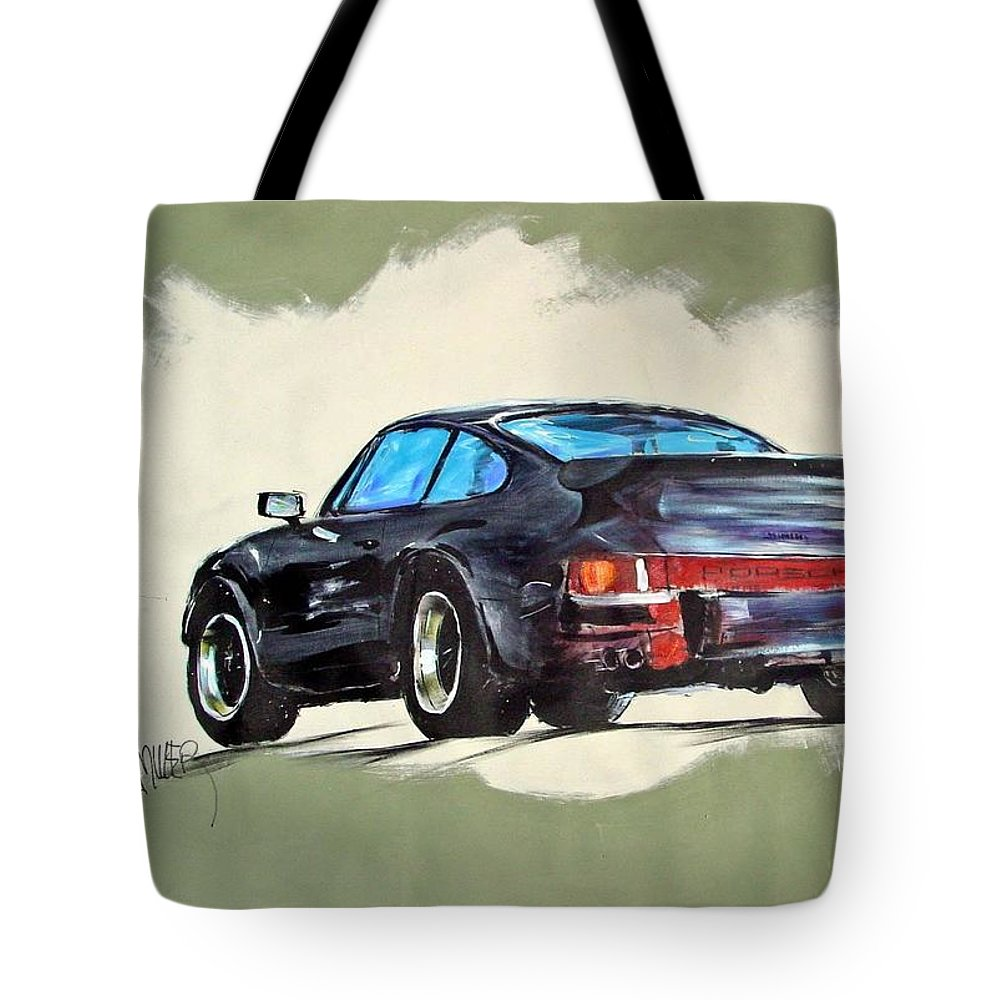 Auto Tote Bag featuring the painting Carrera by Paul Miller