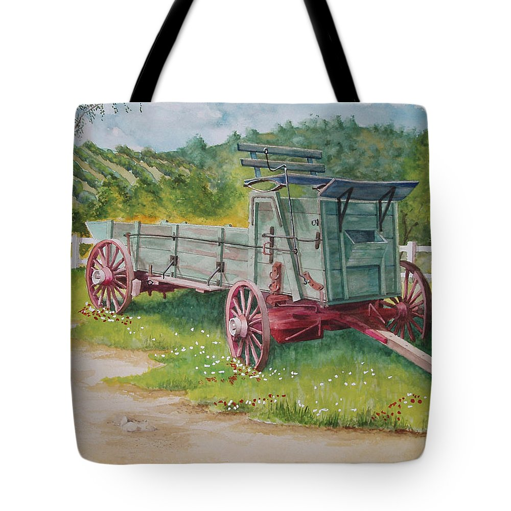 Farm Tote Bag featuring the painting Carriage by Charles Hetenyi