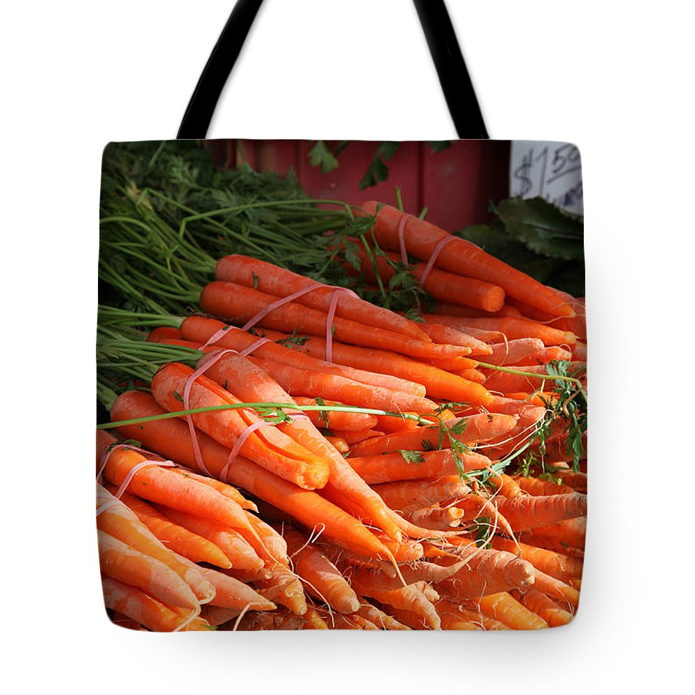 Stilllife Tote Bag featuring the photograph Carrot Bounty by Portraits By NC