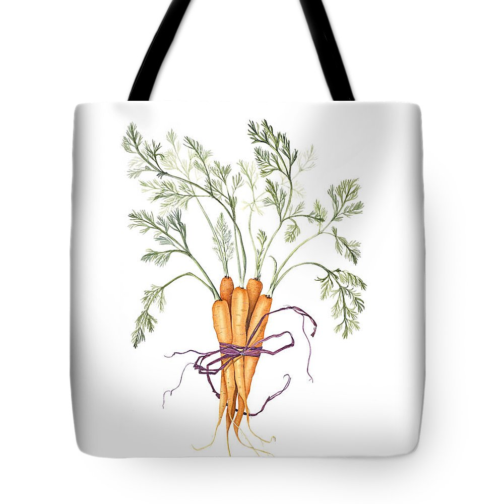 Vegetable Tote Bag featuring the painting Carrot Harvest by Diane Inman