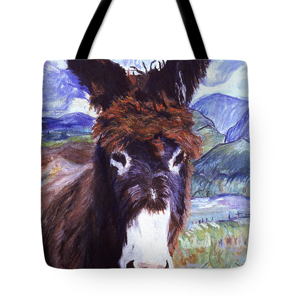 Pat Saunders-white Paintings Tote Bag featuring the mixed media Carrot Top by Pat Saunders-White