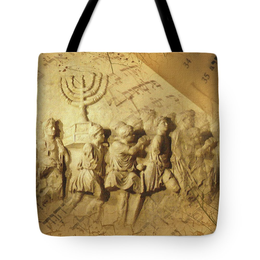 Carrying The History Tote Bag featuring the digital art Carrying The History by Boghrat Sadeghan