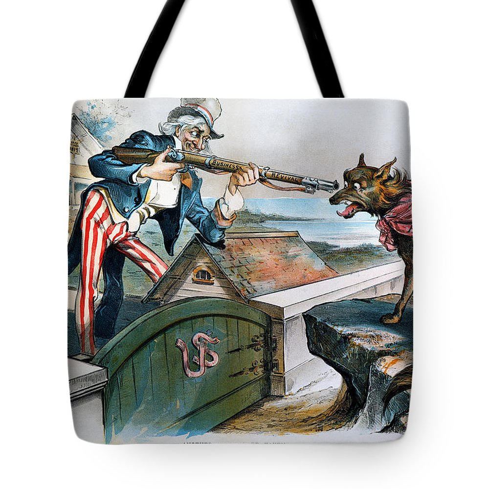 1893 Tote Bag featuring the photograph Cartoon: Panic Of 1893 by Granger