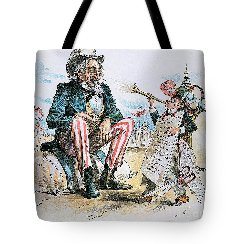 1893 Tote Bag featuring the photograph Cartoon: Uncle Sam, 1893 by Granger