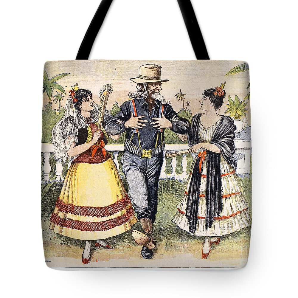 1898 Tote Bag featuring the photograph Cartoon: Uncle Sam, 1898 by Granger