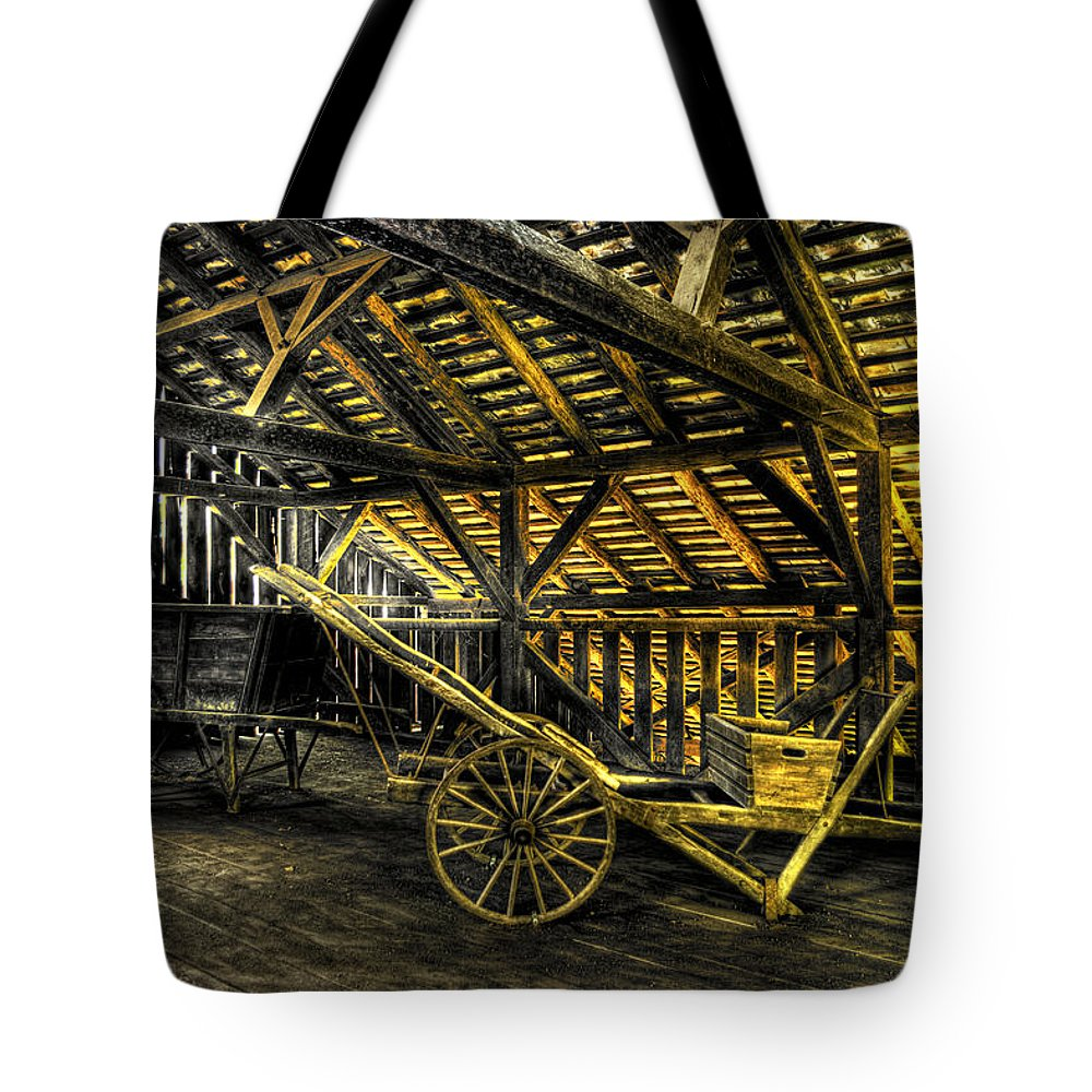 Farm Tote Bag featuring the photograph Carts Before The Horse by Scott Wyatt